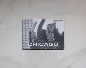 """Chicago """"The Bean"""" Photo Magnet"""