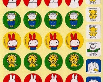Miffy Stickers - Style 1 - Small Schedule Planner Stickers - Reference A6334