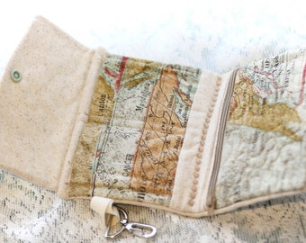 World map wallet
