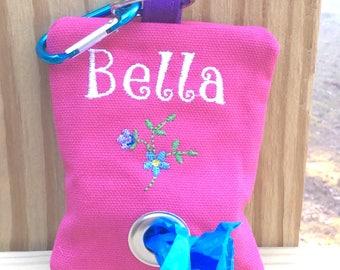 Custom poop bag holder/poop bag dispenser-fun dog gift-dog mom gift-new puppy gift-dog walking-Easter-spring