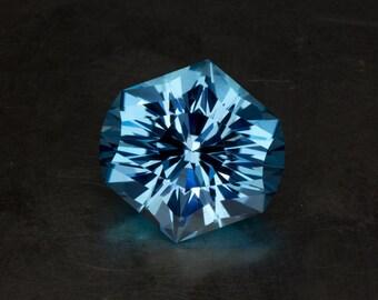 Sky Blue Topaz Loose Huge Natural Faceted Modern Unique Fashion Cut Gemstone Cocktail Ring or Pendant