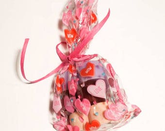 Valentine's Day Gift Bag Conversation Heart Soap Set