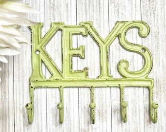 Rustic Key Hook, Key Hook For Wall, Key Holder, Key Holder For Wall, Rustic Key Holder Cast Iron Key Hook Key Hanger, Shabby Chic Wall Decor