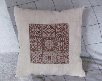 "Pillow fabric samples, and coupon ""cement tiles"""