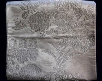 Vintage Japanese Obi Kimono Belt Sash Fukuro Style Paulownia Plus