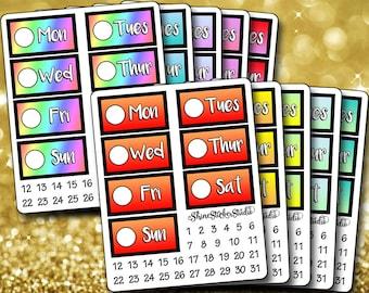 BUNDLE! -- Ombré Date Cover Stickers - Planner Stickers Erin Condren Life ECLP Stickers Happy Planner Gradient Date Cover Stickers