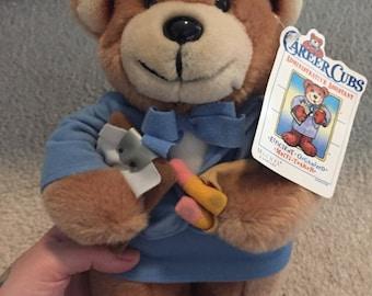 Vintage administrative assistant teddy bear career cubs