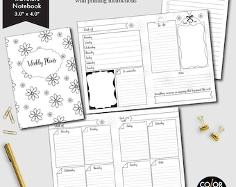 Micro-Size Weekly printable, week on two pages, weekly planner, weekly calendar, weekly agenda printable, CMP-222.6
