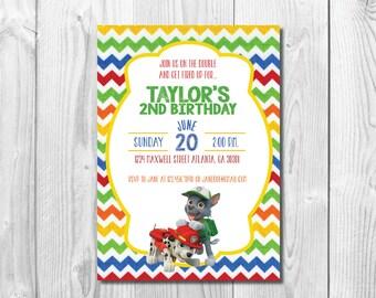Paw Patrol Birthday Party Invitation << Paw Patrol Party >> Paw Patrol Invite >> Paw Patrol Birthday << Custom Printable Digital File