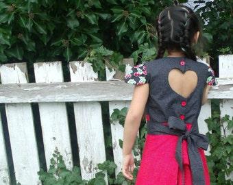 PDF Sewing pattern for Girls Love Bird Dress MCM Studio Designs
