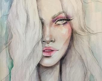 Vampire Inspiration Original Watercolour Painting