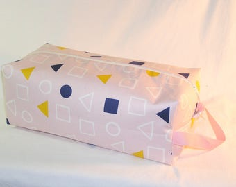 SPECIAL PRICE - Geometry in Chalk Pink Sweater Bag