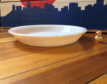 Fire King Peach Luster Pie Dish