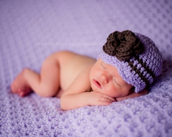 Purple hat girls, Baby girl hat, newborn girl hat, hospital hat, girls hospital hat, baby girl, hat, baby girl hat, baby shower gift, croche