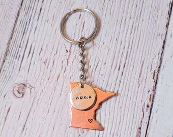"Minnesota ""Home"" Keychain"