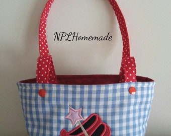 Tote Bag Purse Ruby Slippers Toddler Little Girl Dress Up Purse Gift