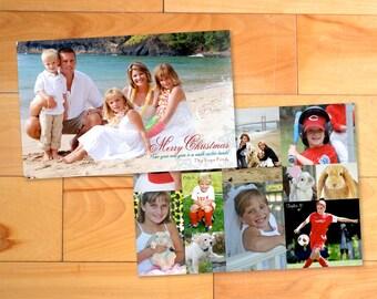 Custom Christmas photo card, Christmas Card, 2 sided Custom Holiday Photo Card - Choose Your Design