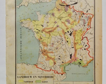 1940's Map of France