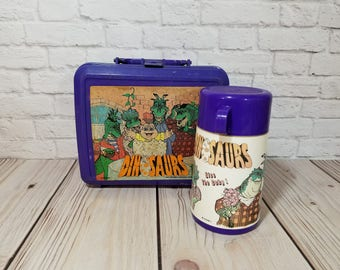 Dinosaurs Sitcom Plastic Lunch Box With Thermos