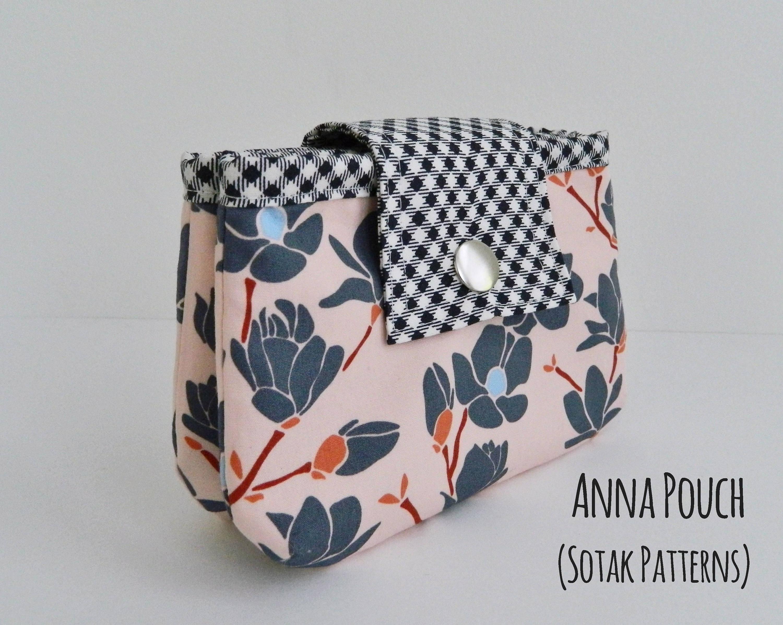 Anna Double Zipper Pouch, diy, pouch pattern, PDF sewing pattern ...