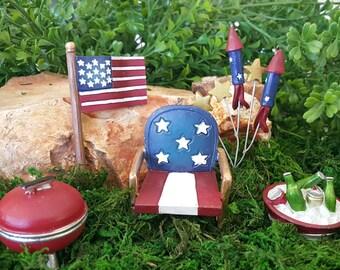 Miniature USA Patriotic Celebration - 5 pieces
