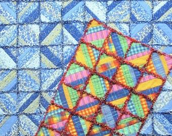 "Sandy Brawner for Quilt Company ""Strippy Rag Quilt"" Pattern"