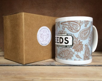 Personalised Paisley Location Mugs - Tea, Coffee, Hot Chocolate