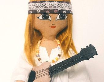 Joni Heirloom Doll fabric dolls