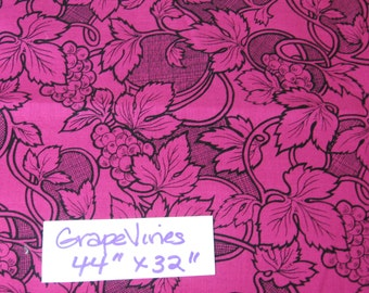 "Grapevines, Mary Ellen Hopkins, SSI, fabric, cotton, material, quilting, sewing, suppllies, kit, 44"" x 32"" (Grapevines)"