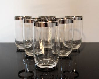 Mid Century Modern Dorothy Thorpe style Roly Poly Drinking Glasses S/6