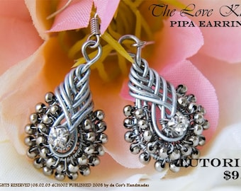 TUTORIAL - STEP BY STEP WIRE JEWELRY - The Love Knot, PIPA Earrings, Wired Chinese Knot