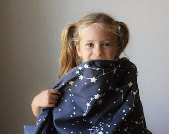 Galaxy Throw Blanket- Organic Blanket, Throw, For Kids (SewnNatural Exclusive)