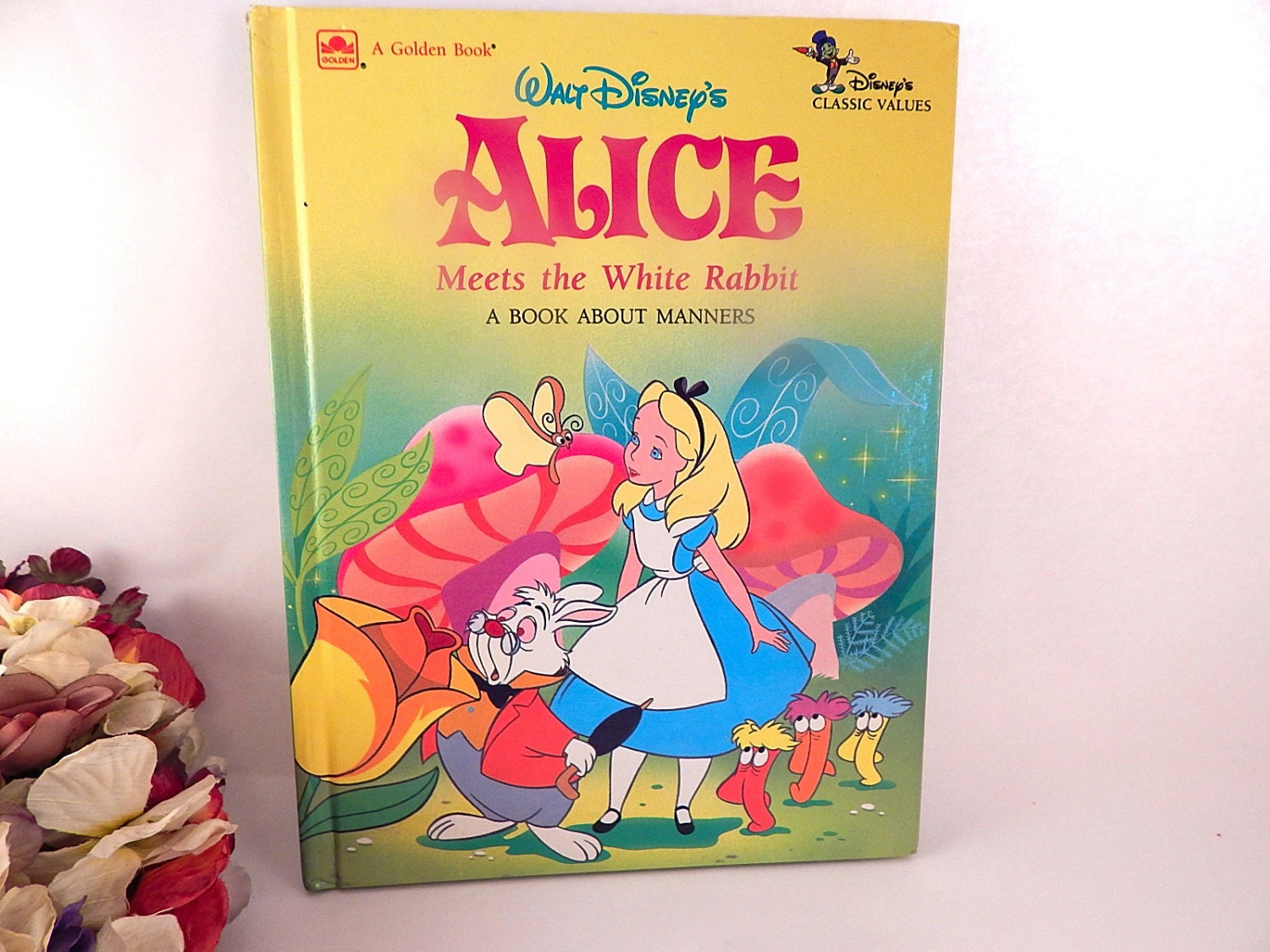 Alice Meets the White Rabbit Walt Disney\'s Classic Values