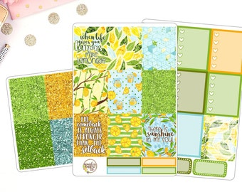 When Life Gives You Lemons Weekly Kit for use in Erin Condren Life Planner