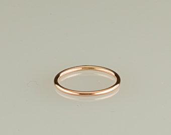 ONE ring, 10kt solid gold, Rose gold, yellow gold- 18g, stacking rings, thin band, wedding, engagement,