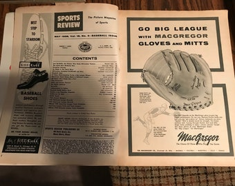 Vintage Sports Review Baseball 1958 issue