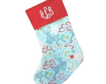 Monogrammed Stocking Monogram Christmas Stocking Personalized Christmas Stocking Custom Stockings Xmas Stocking 1st Christmas