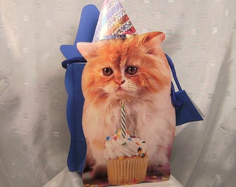 Orange Tabby Cat Party Gift Bag for Gifts or Product Packaging