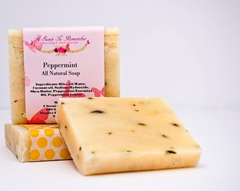 Peppermint Soap (Vegan, All Natural)
