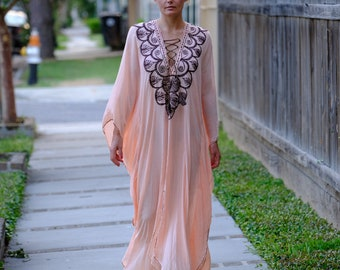 moroccan embroidered caftan