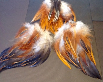 Real Assorted, Free-range Chicken Feathers for Fly-tying, Arts & Crafts, Jewelry, Supplies