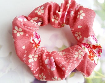 Scrunchie - Cherry Blossom Japanese Cotton Fabric