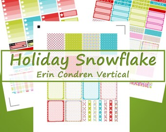 ECV -- Holiday Snowflake Planner Stickers