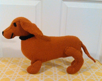 Knit Stuffed Toy Dachshund
