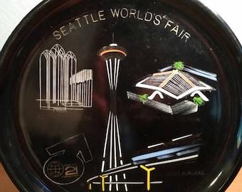 Seattle Washington World's fair Commemorative Plate - Mid Century Modern - Display or Wall hanging