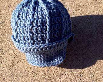 Newsboy cap - newsboy hat - infant hat - newborn newsboy hat - adult newsboy hat- free shipping - toque - crochet hat - crochet toque - hats