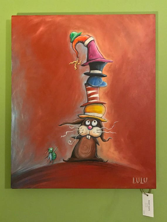Many Hats (Original Acrylic Painting)