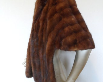Vintage 1940's Mink Capelet/Stole* PERFECT CONDITION. Reddish Cast . Elegant . Classy . Holiday . Party . Prom . Wedding . Forties . WOW!!