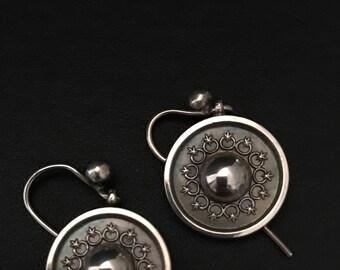Victorian Silver Earrings