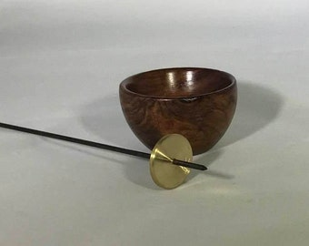 Support Bowl and Indian Style Tahkli Support Spindle